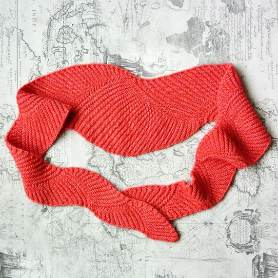 Knitting PATTERN The Baktus Scarf SWIRL by TheSilkySkein on Etsy