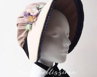 SALE Khaki  Women's bonnet  hatbellissima