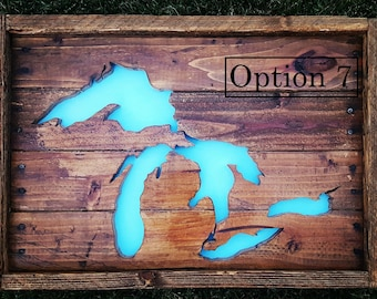 Michigan Pallet Art 'The Great Lakes State of Mind' Wall Decor