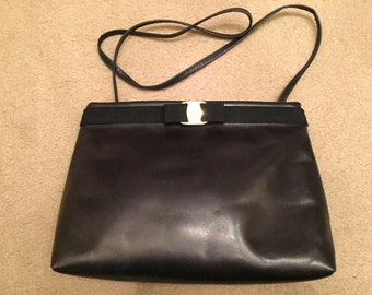 Vintage Salvatore Ferragamo leather bag