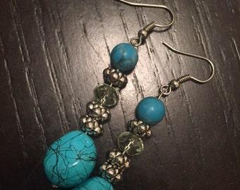 Vivid Turquoise Earrings