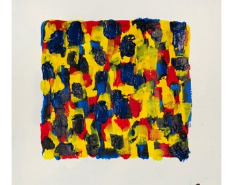 "Primary Square 8x10"" print"