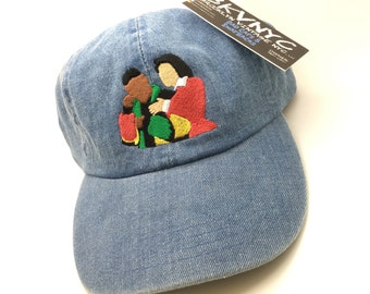 Denim Martin & Gina Dad Cap Hat 90s TV Show
