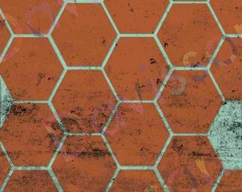 Geometric Hexagon Poster