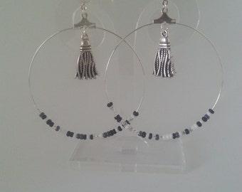 Earrings 50 PEARLS GREY {jewelry}