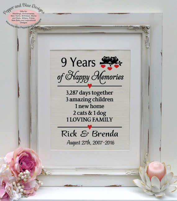 9th Year Wedding Anniversary Gifts: 9th Anniversary Gifts 9th Anniversary Gift By
