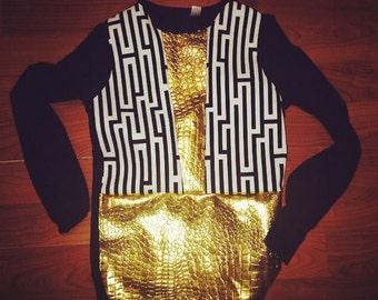 gold brick shirt