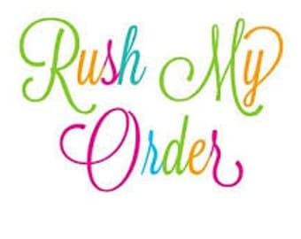 Rush Order Listing for Same Business Day Shipping