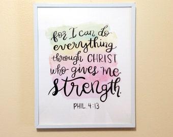 Philippians 4:13 - Instant Print - 8x10