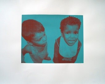 Serigraphy of two boys