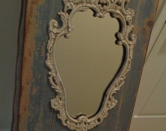 Distressed Ornate Mirror