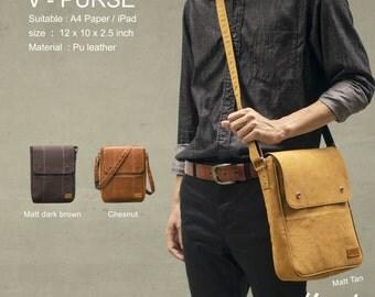 Hazel Design Messenger Shoulder Bag Briefcase for Men Woman Vintage Retro