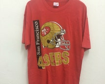 Vintage 49ers Forty Niners American Football NFL T Shirt Size L