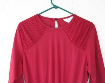 Vintage Red Women's Blair Dress, Red Blair Vintage Dress, Red Blair 1960's Dress, Red Blair 1970's Dress