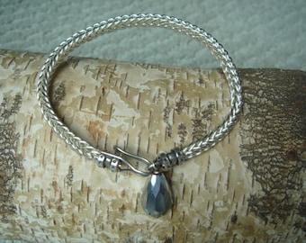 Woven bangle bracelet