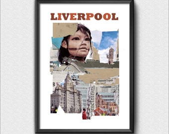 A4 Liverpool Collage