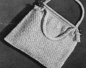 Crochet Purse or Knitting Bag Aunt Lydia's Vintage Pattern