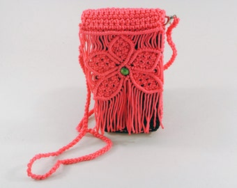 corchet pouch case for IPOD6 with macrame flower flap-free shipping