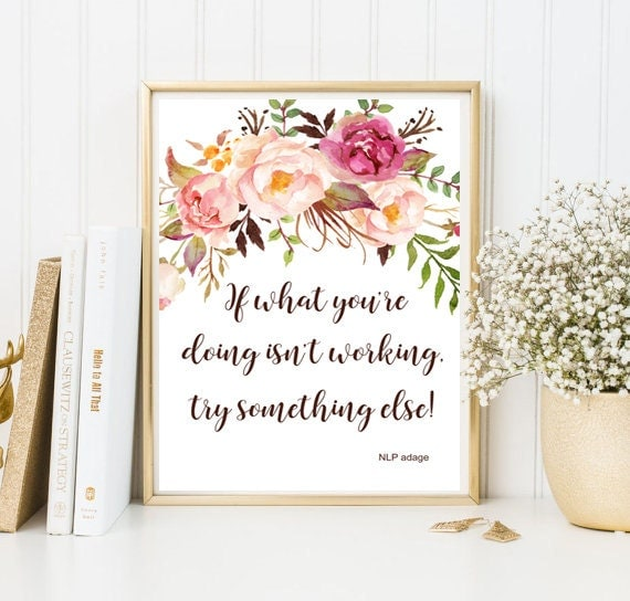 Wall Decor Framed Quotes : Framed quote print office home decor dorm room digital