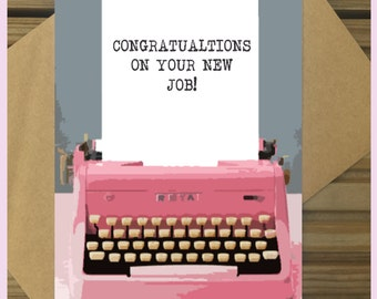 Congratulations On Your New Job Greetings Card