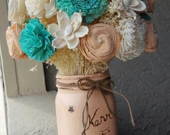 Rustic Sola Flower Centerpiece