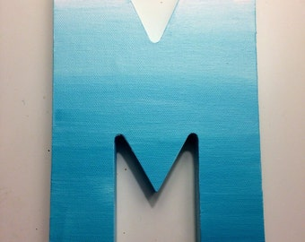 Cute Ombre letter! Perfect accessory to brighten any room!