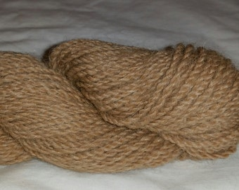 100% Alpaca Yarn, Light Fawn, 2-ply