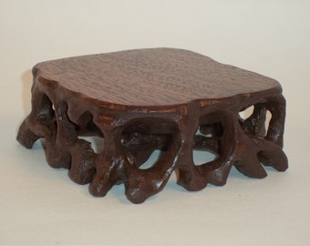 Carved root stand / bonsai stand / bonsai / shohin / accent stand
