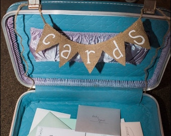 Cards Mini Banner. Mini Burlap Banner. Burlap Banner. Card Banner. Wedding Decor. Wedding Signage. Cards. Gifts. Gift Banner. Wedding Cards.