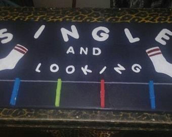 Single sock hanger