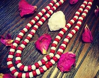 Erzulie Freda Eleke- Erzulie Freda Necklace/ Ezili Freda Necklace/ Voodoo/ Voodoo Necklace/ Voodoo Beads/ Orisha/ Orisha Necklace