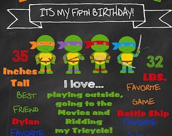 TMNT Birthday Chalkboard
