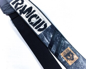 Handmade guitar strap - bleached rancid - Unikat - vegan