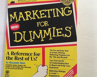 Marketing For Dummies, Marketing Book, Marketing Book, Advertising,Trade Shows, Direct Mailing Tips, Marketing on Web, Business Guide, Radio