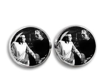 Bride of Frankenstein Stud Earrings Frankenstein Earrings Fandom Jewelry Horror  Fangirl Fanboy