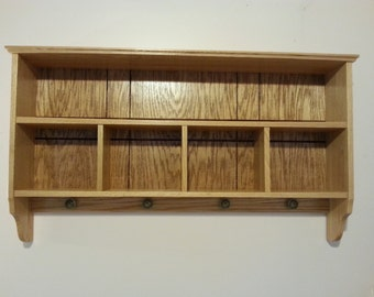 Shelving cubby organizer
