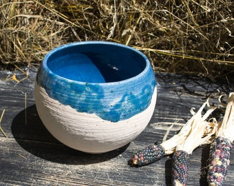 """Deep bowl for kitchen """"Bottom of the ocean"""", Pottery Bowl"""