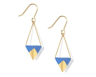 Earrings Koroko - electric blue