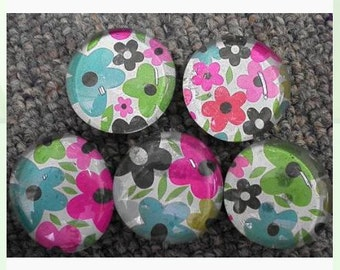 Flower glass magnets
