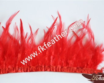 Rooster Tail Feather Fringe Trim