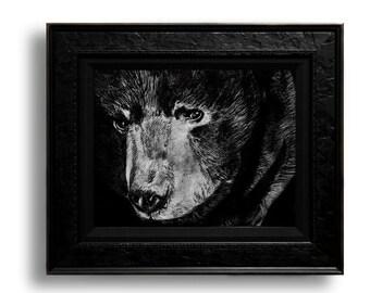 Bear Print 8.5x11 Black and white