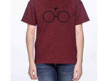 Harry Potter Glasses and Scar Youth Shirt, Harry Potter Shirt, Nerd Shirt, Youth Shirt, Harry Potter,