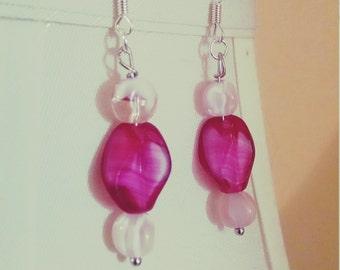 Strawberry Fields Glass Earrings