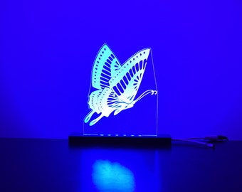 Colour changing Butterfly LED Night light - Child friendly