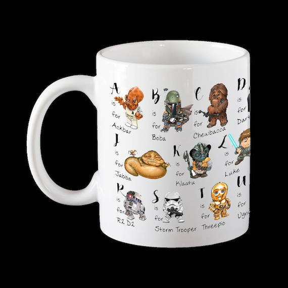 Hervorragend Star Wars Mug Alphabet Mug Father's Day Mug Star Wars RG08