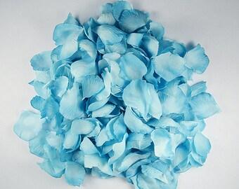 TURQUOISE- Rose Petals 300 Wedding Decoration Flower Girl Basket Toss