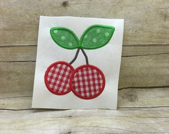 Cherry Applique, Cherry Embroidery Design Applique