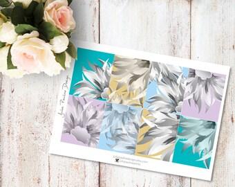 Planner Stickers for the vertical Erin Condren Life Planner - Blue Ancestor Kit Full Boxes Sheet