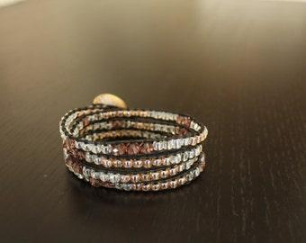 4 Wrap Chan Luu Style Leather Bracelet