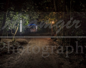 Night Scene of a Path leading to a Village Wedding (Bangladesh Photography)